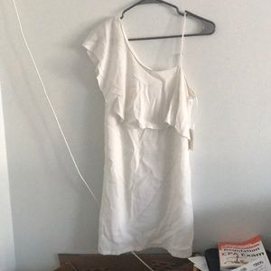 NWT 1. state White One Shoulder Dress Sz 0